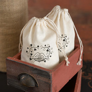 Love Birds Cotton Favor Bag