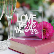 Love is in the Air Cake Topper