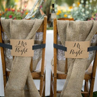 Mr. and Mrs. Kraft Chair Banners