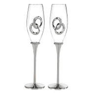 Two Rings Toasting Flute Set