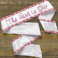 """The Hunt is Over"" Bachelorette Sash in Pink Camo"