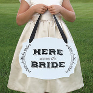Here Comes the Bride / Just Married Two-Sided Sign