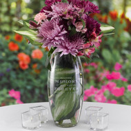 Forever Present in Our Hearts Memorial Elite Vase (Not Personalized)