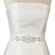 Adriana Bridal Sash in White