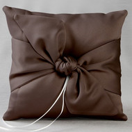 Love Knot Ring Pillow in Chocolate Brown