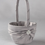 Celebration Flower Girl Basket in Platinum