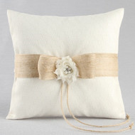 Miranda Rustic Ring Pillow
