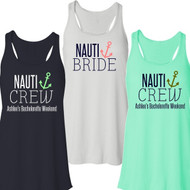 Nauti Bride or Nauti Crew Flowy Racerback Tank | Bachelorette Party Tank