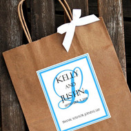 Personalized Bold Background Monogram Wedding Welcome Bag