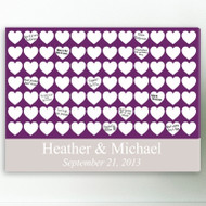 Heartful Wishes Signature Canvas Guest Book