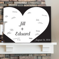 Shadow of Love Signature Canvas Guest Book