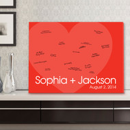 Love For Ever Signature Canvas Guest Book