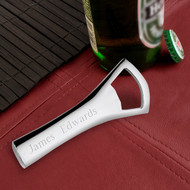 Personalized Silver-Plated Bottle Opener