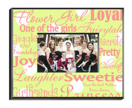 Personalized Flowergirl Frame