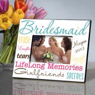 Personalized Classic Tones Bridesmaid Picture Frame