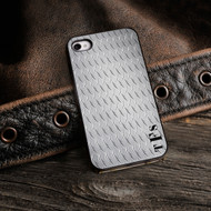 Diamond Plate iPhone Case with Black Trim
