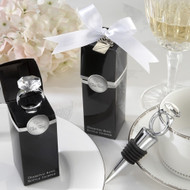 """With This Ring"" Diamond-Ring Bottle Stopper"