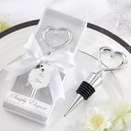 Simply Elegant Chrome Heart Bottle Stopper