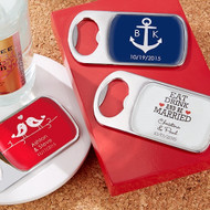 Personalized Bottle Opener Favor with Epoxy Dome