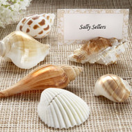"""Shells by the Sea"" Shell Placecard Holders with Matching Cards (Set of 6)"