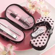 """Pink Polka Flip Flop"" Five Piece Pedicure Set"
