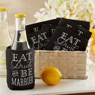 """Eat, Drink & Be Married"" Collapsible Koozie (Set of 12)"