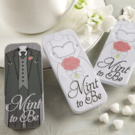 Mint to Be Bride or Groom Slide Tins with Heart Mints
