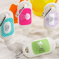"""Fun in the Sun"" Personalized Sunscreen Bottle Favor"