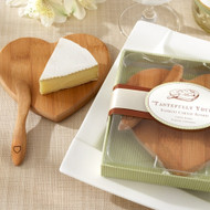 """Tastefully Yours"" Heart-Shaped Bamboo Cheese Board"