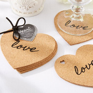 """Heart"" Cork Coasters {Set of 4}"