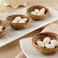 """""""Nestling"""" Natural Bird Nest Favor Holder (Set of 12)"""