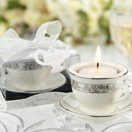 """Teacups and Tealights"" Mini Porcelain Tealight Holder"