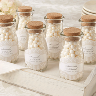 """Vintage"" Personalized Milk Favor Jars (Set of 12)"