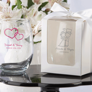 Personalized Baby Themed Stemless Wine Glass