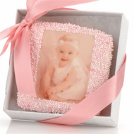 Baby Girl Picture Cookie with Favor Box