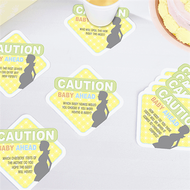 Baby Shower Conversation Coasters (Set of 12)