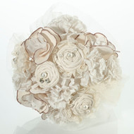 Rustic Chic Fabric and Lace Bouquet