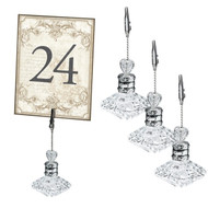 Elegant Acrylic Table Number Holders (Set of 4)