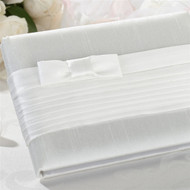 White Pleated Guest Book