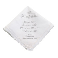 "Personalized ""To My Mom ... A Friend for Life"" Handkerchief"
