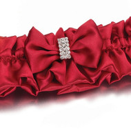 Diamond Red Keepsake Garter