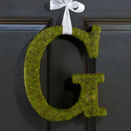 Moss Covered Monogram Letter