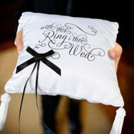 """With This Ring I Thee Wed"" Ring Pillow"