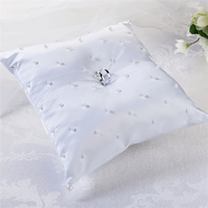 Pearl Ring Pillow in White