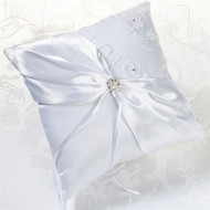 White Lace Ring Pillow