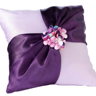 Radiant Purple Ring Pillow
