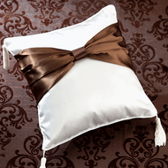Brown Sash Ring Pillow
