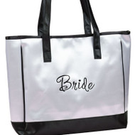 "Wedding White ""Bride"" Tote Bag"