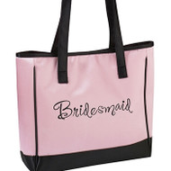 "Pink ""Bridesmaid"" Tote Bag"