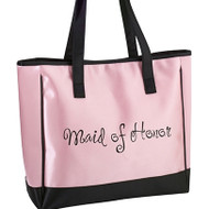 "Pink ""Maid of Honor"" Tote Bag"